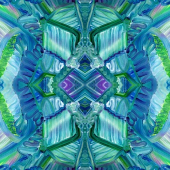 """Popping Pastels"" * 4, one original, one mirrored, one rotated, and one mirrow and rotated"