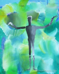 "DELICATE BALANCE , 16"" x 20"", acrylic on canvas"