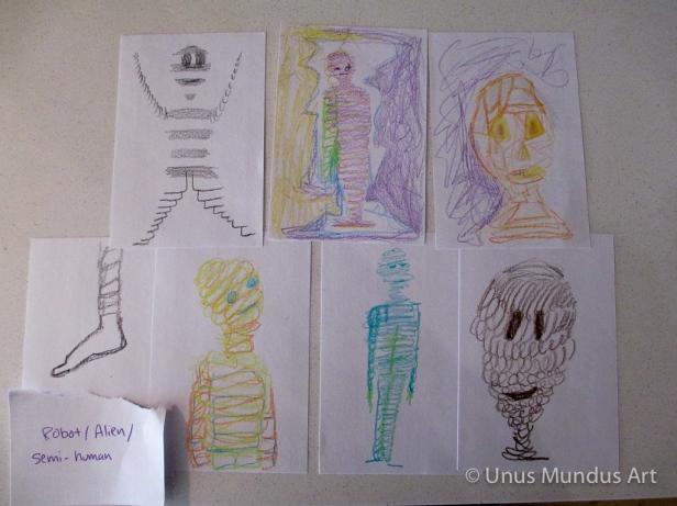 robot alien semi human