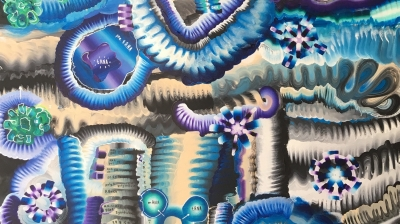 wall art, abstract art , science art, Unus Mundus Art, Jasmine Raskas, Jasmine painter, St. Louis Art